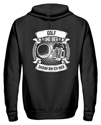 Chorchester Ideal Für Golf und Bier Fans - Zip-Hoodie -XL-Schwarz Bier-zip Hoodie