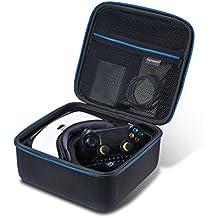 Samsung Gear VR Realidad Virtual cubierta de la caja Caja de vidrios con bolsillo de malla con cremallera y manejar - repelente al agua en Azul / Negro