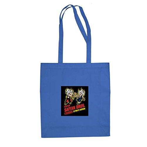 Dbz: Super Saiyan Bros Game - Sacchetto Di Stoffa / Borsa Blu
