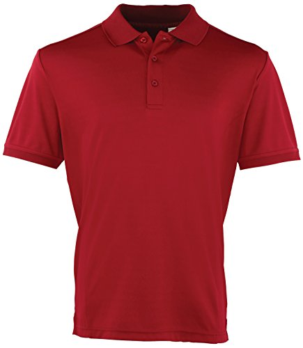 Kühler Premier Checker Pique Polo - 16 Farben / Sml-3XL Strawberry Red