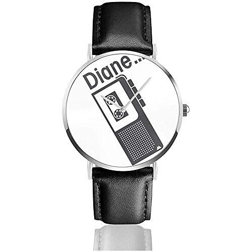 Unisex-Armbanduhr Twin Peaks Diane Diktiergerät Uhren Quarz Leder Uhr