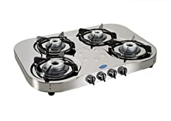 Glen Stainless Steel 4 Burner Gas Stove, Silver (CT1045SSHFAI)