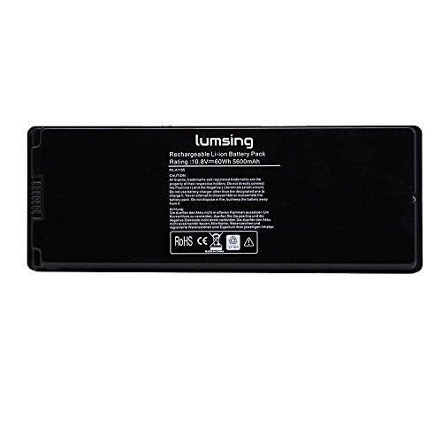 """Preisvergleich Produktbild Lumsing Notebook Batterie Laptop Akku 10.8V 5600mAh Ersatzakku Für Apple MacBook 13"""" Serien, A1181, A1185, MA561,MA561FE/A,MA561G/A,MA561J/A, MB061*/A, MB061B/A, MB061CH/A 13.3-inch, Wie Original Laptop Batterie Akku 60Wh Schwarz"""
