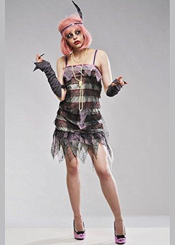 Lady-Grabstein der 1920er Jahre Zombie Kostüm Medium (UK (Halloween Kostüme 1920's Uk)