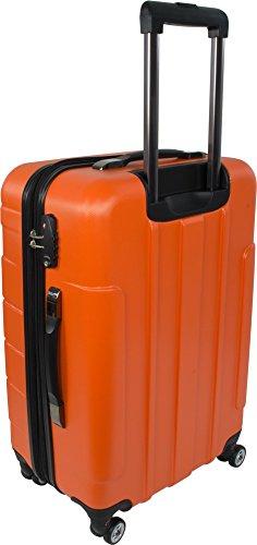Leichtes ABS Hartschalen Kofferset Marke normani® in verschiedenen Farben wählbar! New/Generation/Orange/Grau