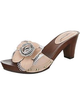 Pantoletten Damen Schuhe Jazz & Modern Pump Nieten Besetzte Ital-Design Sandalen / Sandaletten