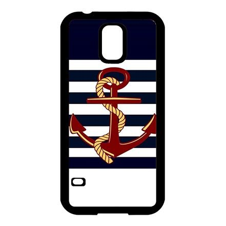 Abstract Anchor Sailing Theme Thin Flexible Plastic Hülle for Samsung Galaxy S5 I9600, Custom Samsung S5 Protective Phone Schutzhülle For Girls