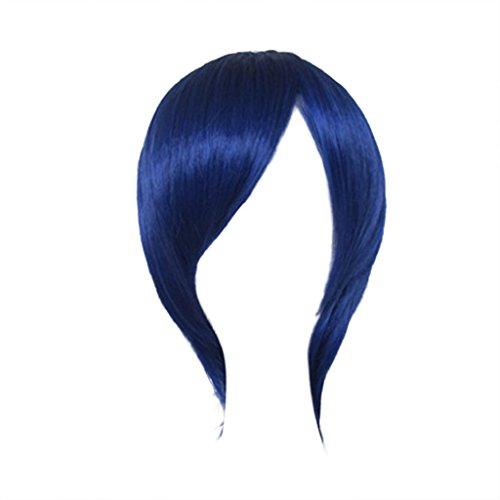 No Prince Cosplay Sama Kostüm Uta - Dream2reality Cosplay_Uta no Prince-sama_Hizirikawa Masato_slim face_35cm_dark blue_Japanische hoch temperatur bestaendigen Faser Peruecken