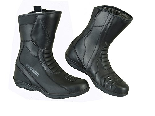 Stiefel Leder Wasserdicht Motorrad Winter Racing Boot Motorrad Abenteuer Schuhe für Männer Frauen Herren Damen Motorradstiefel - Motorradschuhe