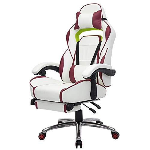 Shubiao chair E-Sport-Spiel-Stuhl-stützenes Innenministerium-Leder-Stuhl Ergonomischer Rennspiel-Stuhl-Ebenen-Stellen-Nap-Stuhl