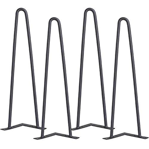 Yaheetech Set di 4 Gambe Forcina per Tavolo Tavolino Piedi per Mobili Ferro Altezza di 41 Viti