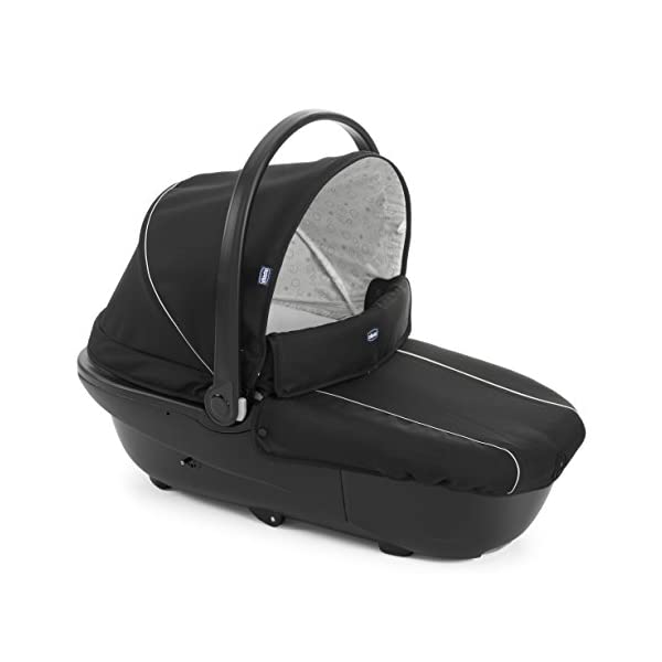 Chicco Trio-System Sprint Black with Car Kit, Black Night Chicco Sprint is a lightweight sports car with a large, comfortable seat / bed With baby shell synthesis 0+ incl. 5-point-belt, kiva with 3-point-belt incl. kit car, rain cover Incl. exit bag with changing mat, footmuff, comfort handles (360 ° ergonomic twist-push handles), hanging basket 6