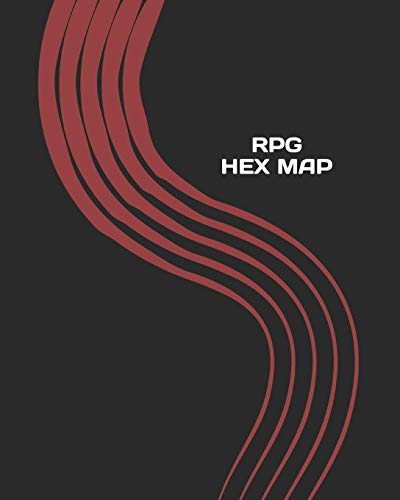 RPG Hex Map: Hexagon Battle Grid Game Mat Template Book with Honeycomb  Graph Paper Pages