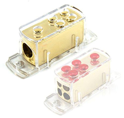 Watermark WM-0121 Verteiler Verteilerblock für Kabel 1 x 20 qmm auf 4 x 10 qmm - vergoldet