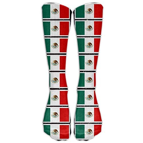 Coloring Pages Mexican Flag Printable Soft Casual Fashionable Long Knee High Socks Stockings (full Print)