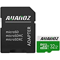 Tarjeta Micro SD de 32 GB Auanoz Micro SDHC Clase 10 UHS-I Tarjeta De Memoria De Alta Velocidad Para Teléfono, Tableta y PC - Con Adaptador (Verde-32gb)