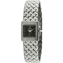 Swiss Edition se3809-s Damen silberfarbenes gesteppt Armband Armbanduhr