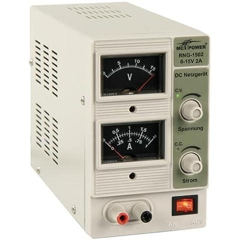 Scienova-fuente de alimentación fuente de alimentación de 'RNG-1502' regulable 0-15V=, 0-2A, 2 x Analógico-RAN. 30