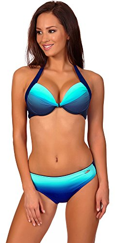 aQuarilla Damen Bikini Set Barbados (Navy/Blau, 44) (Bikinis Und Tangas Frauen In)