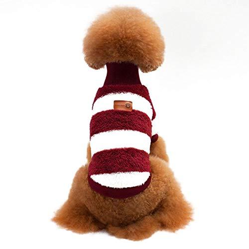 Kostüm Rote Rock Pudel - Rodite Hund Sweatshirt Gestreifte Kleidung Korallenvlies Hundebekleidung Mantel Haustierkleidung Hund Beeinträchtigt das Gehen von Katze und Hund Nicht-Rot