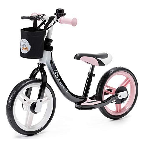 Kinderkraft SPACE Laufrad Kinderlaufrad Fahrrad Lernlaufrad 12 Zoll, rosa