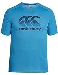 Canterbury Vapodri de entrenamiento para hombre T-Shirt, hombre, color Blue Danube, tamaño mediano