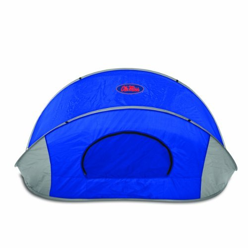 ncaa-mississippi-rebels-manta-portable-pop-up-sun-wind-shelter-blue-by-picnic-time