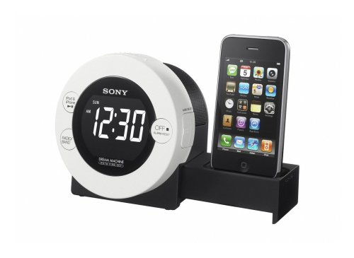 Sony ICFC 7 IP Uhrenradio (LC-Display, UKW-/MW-Tuner, Apple iPod-Dock) silber