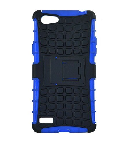 INCREDIBLE INDIA Hybrid Flip Kick Stand Spider Hard Dual Shock Proof Rugged Armor Bumper Back Case Cover For Oppo neo 7 - Power Blue