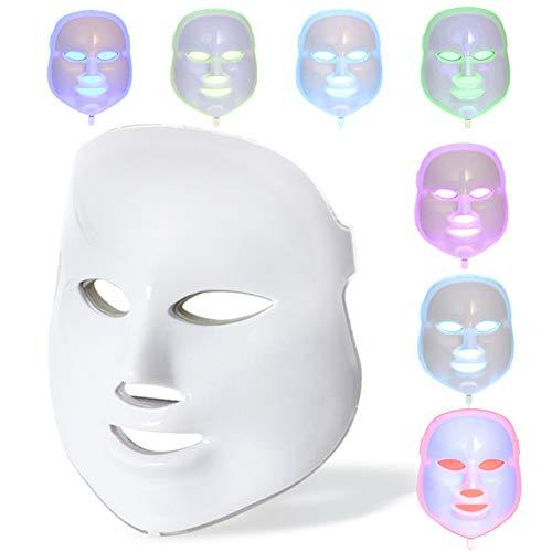 YARUMASK 7 Farben LED Maske Lichtbehandlung,Entfernung Hautverjüngung Maschine Straffung Gesichtspflege,Anti-Falten Anti-Akne Maske mit Hals,Für Die Tägliche Gesichtsmaske - Kollagen-aktivator