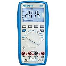 Peak Tech 3–Multímetro digital de 4dígitos con rango de bar Graph automática y Elección–Cat III 600V, 1pieza, P 2015