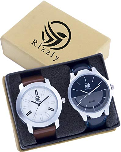 Rizzly Pack of 2 Multicolour Analog Analog Watch for Men and Boys