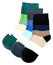 Color Fevrr Mens Mid-calf Length Cotton Socks (Multi-Coloured, Set of 3)