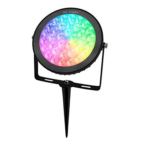 LIGHTEU®, 15W gartenleuchte WLAN LED, original Milight 15W Color RGB+CCT,AC 100-240V, dimmbar,Farbwechsel Gartenleuchte,Außenstrahler Fluter Flutlicht,IP65,ohne Fernbedienung, fut C03