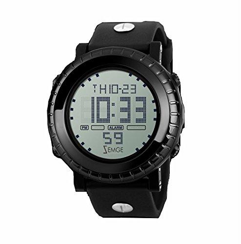 Zemge stoßfeste, wasserabweisende, multifunktionale, digital Sport-Uhr für Freizeitaktivitäten, mit Timer, Alarm und LED-Licht