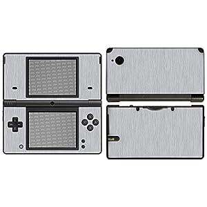 atFoliX Skin kompatibel mit Nintendo DSi, Designfolie Sticker (FX-Brushed-Alu), Gebürstet / Bürsten-Struktur