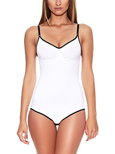 Body Shaper Shapewear Spalla Stretta Open UP GR. SM ML LXL weiß schwarz skin Figurformer Mieder Unterwäsche Bianco