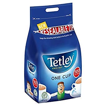 ( 1100s Pack ) Tetley One Cup 1100 Tea Bags 2.5kg