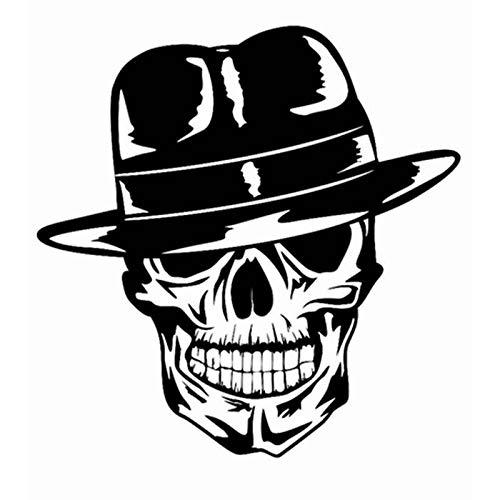 Schedel Halloween Topper Aufkleber Punk Tod Aufkleber Horror Halloween Duivel Poster Naam Auto Fenster Kunst Muurstickers Decor Muurschildering 58 * 59 cm