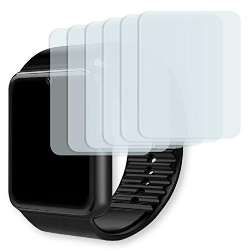 GOLEBO Yamay Bluetooth Smartwatch Displayschutzfolie - 6X Displayschutz Schutzfolie Folie Crystal Clear für Yamay Bluetooth Smartwatch (bewusst Kleiner als Das Display, da Dieses...