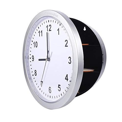 Reloj de pared, Reloj de pared Caja fuerte oculta Caja fuerte secreta Caja de contenedor para dinero...