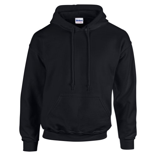 gildan-hooded-sweatshirt-heavy-blend-plain-hoodie-pullover-hoody-black-m