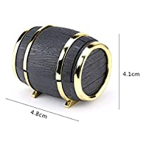 HNHHWNN 1 Piece Wine barrel Jewelry Box Wedding Ring Box Jewelry Container for Earrings Necklace Bracelet Display Gift Box Holder