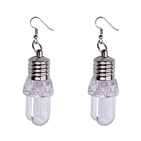 JIANGFU 1Pair Art und Weise Kreativ Frauen beleuchten Ohrring LED blinkende Birnen-Ohr-Haken baumeln Schmucksachen (A / C-umwandlung)