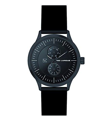 Ted Lapidus 5128603 - Reloj de pulsera hombre, piel, color negro