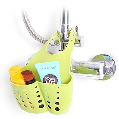 HENGSONG Hängende Aufbewahrungsbox Rack Korb Schwamm Wasche Tuch Toilettenseife Regal Organizer Küche Badezimmer Gadgets Spüle Storage Korb (Grün)