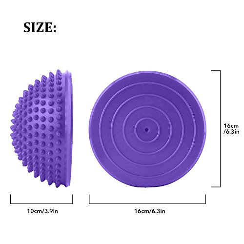 2PCS Spiky Massage balls Deep Tissue Trigger Point roller set PVC gonfiabile yoga palle massaggio mezzo punto fitball esercizi allenamento fitness Balance Ball, Purple