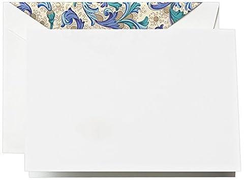 Crane & Co. Blue Florentine Note (CF1503) by Crane & Co.
