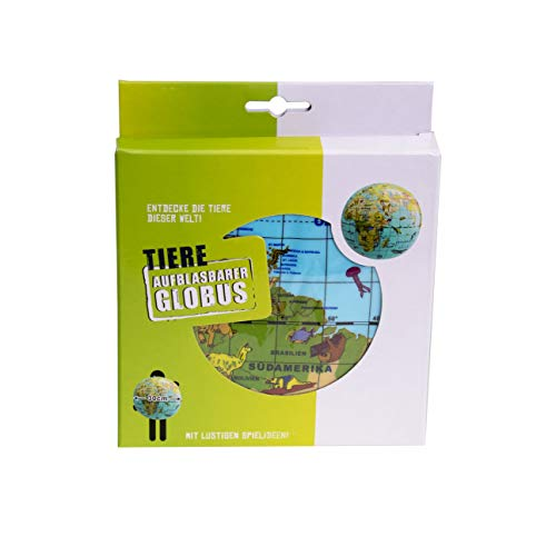 Caly 76115 - Aufblasbarer Globus Tiere Spielzeug