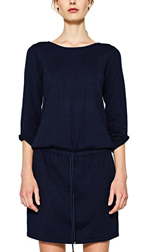 edc by ESPRIT Damen Kleid 097CC1E010, Blau (Navy 400), X-Large